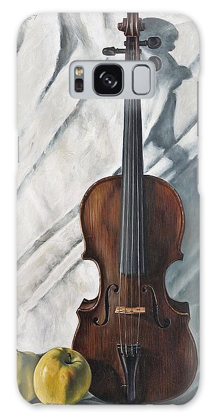 Violin Galaxy Case - Still Life With Violin by John Lautermilch