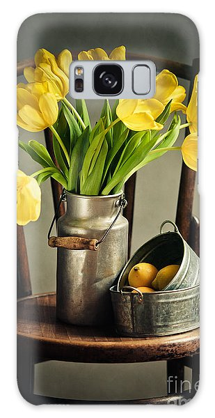 Tulip Galaxy Case - Still Life With Yellow Tulips by Nailia Schwarz