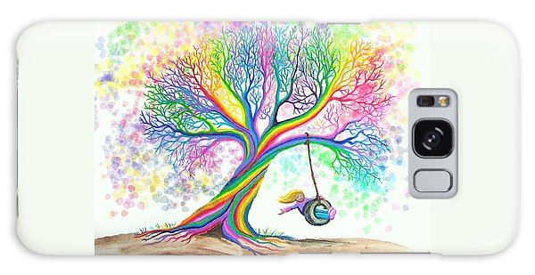 Still More Rainbow Tree Dreams Galaxy Case by Nick Gustafson