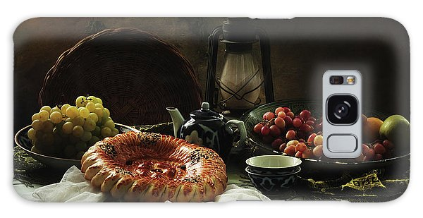 Interior Galaxy Case - Stilllife  With Cake And Grapes by Ustinagreen
