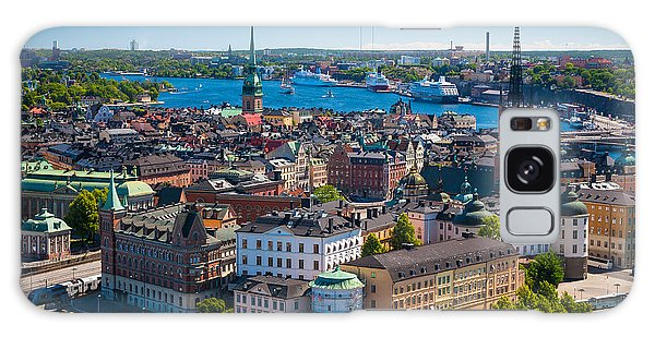 Stockholm From Above Galaxy Case