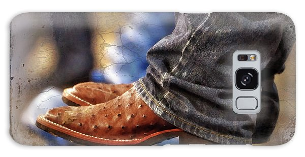 Ostrich Galaxy Case - Stockshow Boots IIi by Joan Carroll
