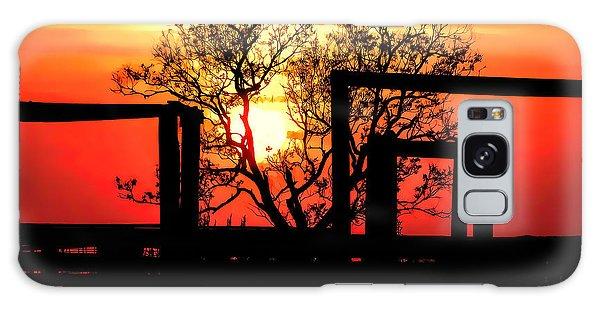 Stockyard Sunset Galaxy Case