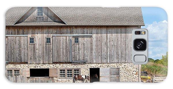 Stone And Wood Barn Galaxy Case