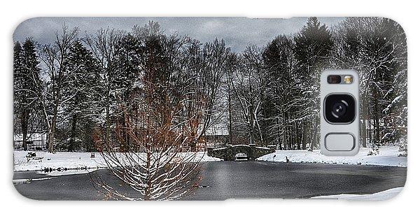 Stone Arch Bridge In Winter Galaxy Case