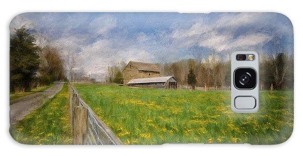 Stone Barn On A Spring Morning Galaxy Case by Lois Bryan