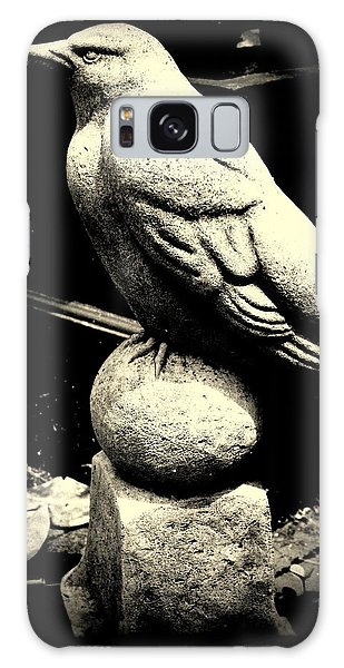 Stone Crow On Stone Ball Galaxy Case by Kathy Barney