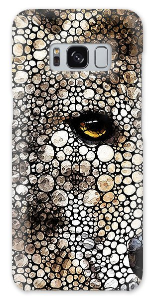 Collectibles Galaxy Case - Stone Rock'd Wolf Art By Sharon Cummings by Sharon Cummings