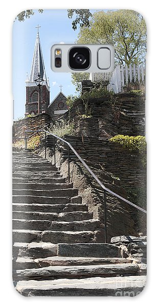 Stone Steps And Saint Peters Church At Harpers Ferry Galaxy Case