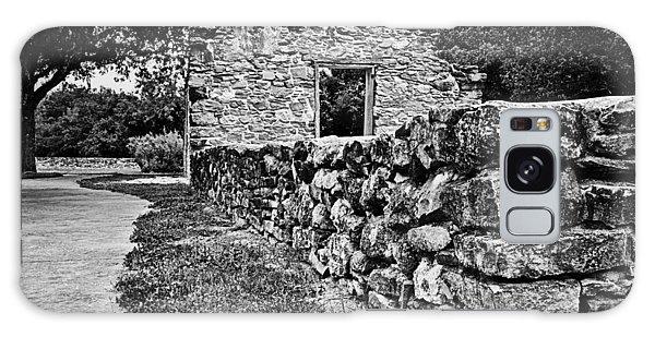 Stone Wall At Mission Espada Galaxy Case by Andy Crawford