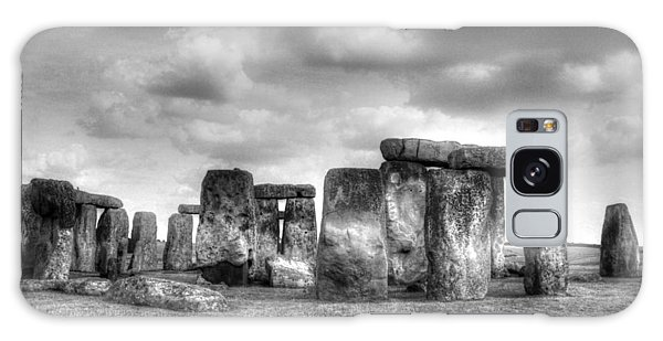 Stonehenge In Black And White Galaxy Case