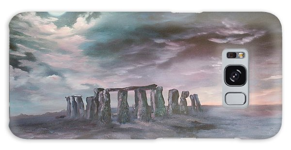 Stonehenge In Wiltshire Galaxy Case by Jean Walker