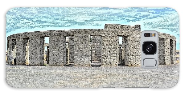 Stonehenge Memorial On Summer Solstice Galaxy Case by Tobeimean Peter