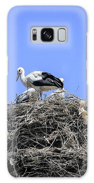 Storks Nesting Galaxy Case