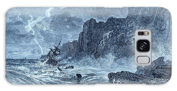 Drown Galaxy Case - Storm At Sea And Shipwreck by David Parker/science Photo Library