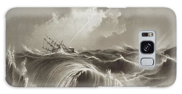 Drown Galaxy Case - Storm At Sea Engraving by David Parker/science Photo Library