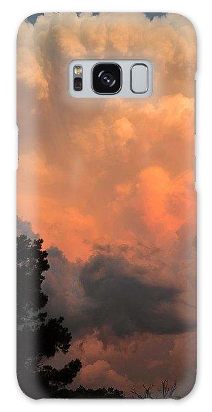 Storm At Sundown Galaxy Case