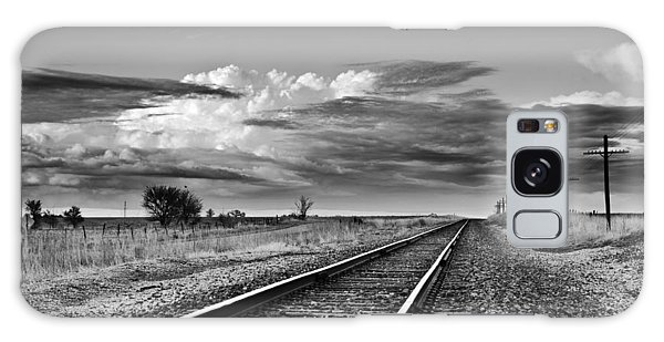Storm Cloud Above Rail Road Tracks Galaxy Case