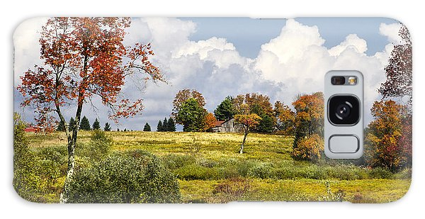 Galaxy Case featuring the photograph Storm Clouds Over Country Landscape by Christina Rollo