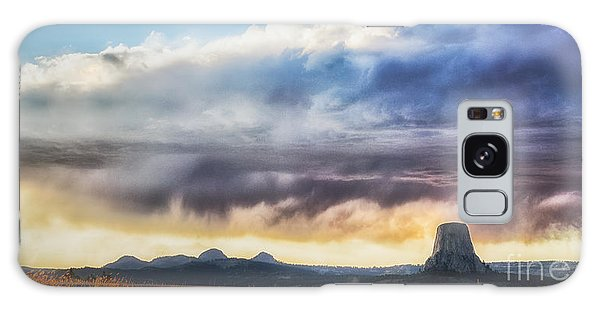Storm Clouds Over Devils Tower Galaxy Case