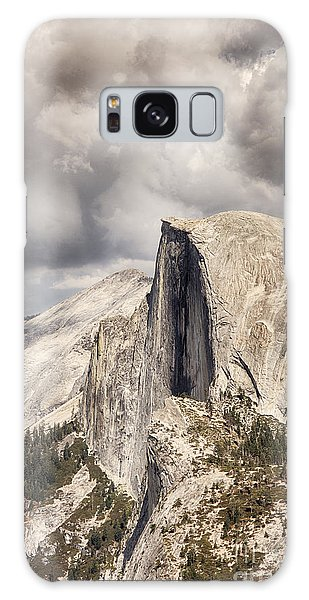 Storm Clouds Over Half Dome Galaxy Case