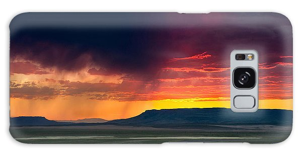Storm Clouds Over Square Butte Galaxy Case
