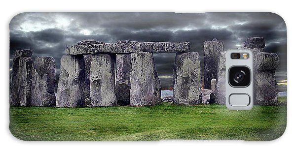 Storm Clouds Over Stonehenge Galaxy Case