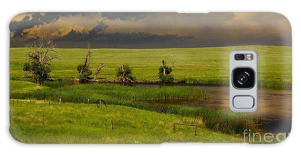 Storm Crossing Prairie 1 Galaxy Case by Robert Frederick