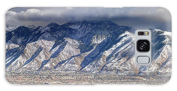 Storm Front Passes Over The Wasatch Mountains And Salt Lake Valley - Utah Galaxy Case