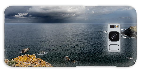 A Mediterranean Sea View From Sa Mesquida In Minorca Island - Storm Is Coming To Island Shore Galaxy Case