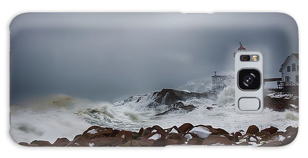 Storm Off Eastern Point Lighthouse Galaxy Case