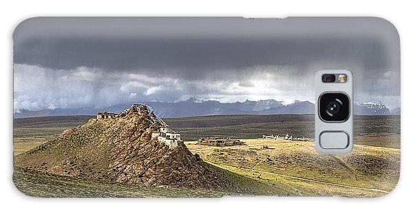 Galaxy Case featuring the photograph Storm Over Chiu Monastery, Chiu, 2011 by Hitendra SINKAR