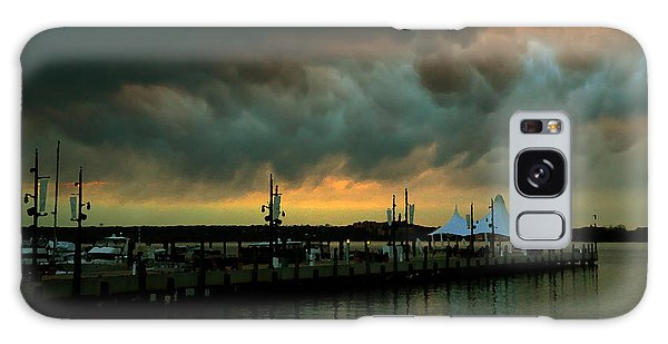 Storm Over National Harbor Oil Galaxy Case