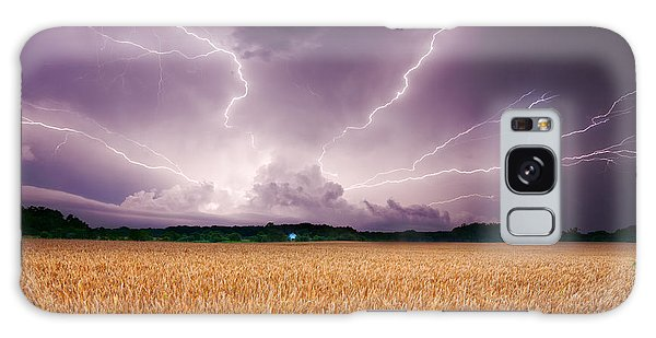 Storm Over Wheat Galaxy Case