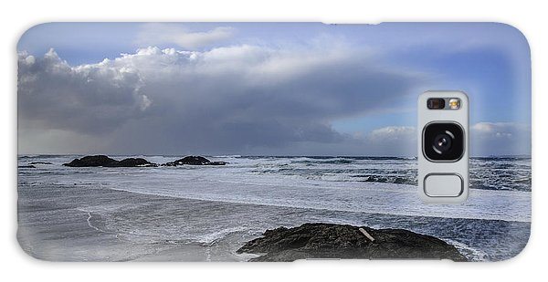 Storm Rolling In Wickaninnish Beach Galaxy Case
