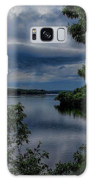 Storm Rolling Over Lake Wausau Galaxy Case