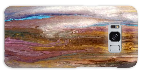 Storms At Sunset / Original Skyscape Painting Galaxy Case