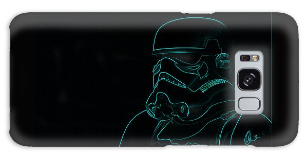 Stormtrooper In Teal Galaxy Case