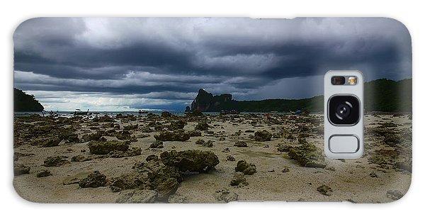 Phi Phi Island Galaxy Case - Stormy Beach by FireFlux Studios