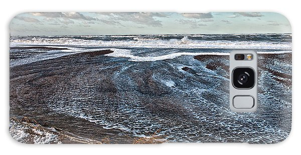 Stormy Beach Galaxy Case by Mike Santis