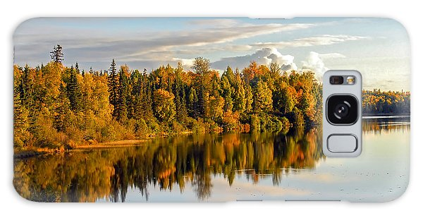 Stormy Lake Alaska In Autumn Galaxy Case