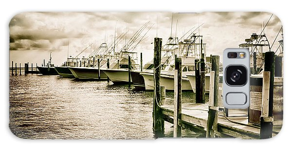 Stormy Marina On The Outer Banks Galaxy Case