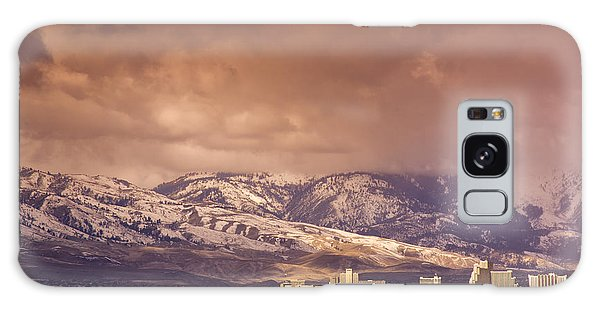 Stormy Reno Sunrise Galaxy Case by Janis Knight
