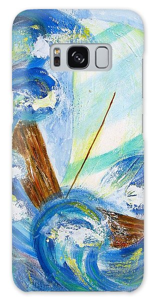 Stormy Sails Galaxy Case by Diane Pape