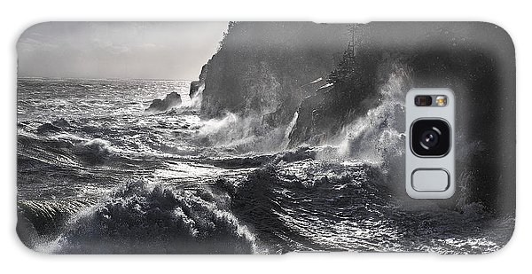 Stormy Seas At Gulliver's Hole Galaxy Case by Marty Saccone