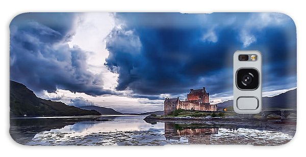 Stormy Skies Over Eilean Donan Castle Galaxy Case