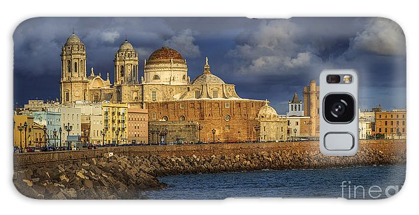 Stormy Skies Over The Cathedral Cadiz Spain Galaxy Case by Pablo Avanzini