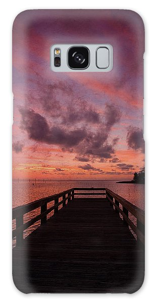 Stormy Sunset Galaxy Case by Beverly Stapleton