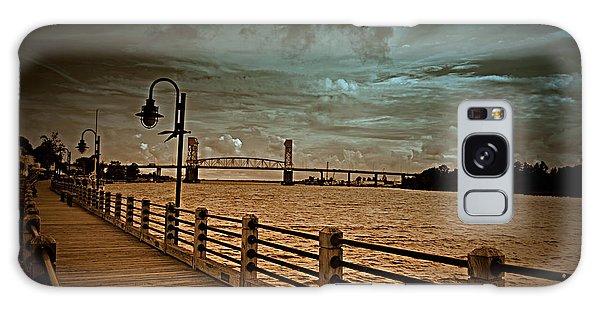 Stormy Wilmington Riverwalk  Galaxy Case