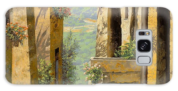 Cityscape Galaxy Case - stradina a St Paul de Vence by Guido Borelli